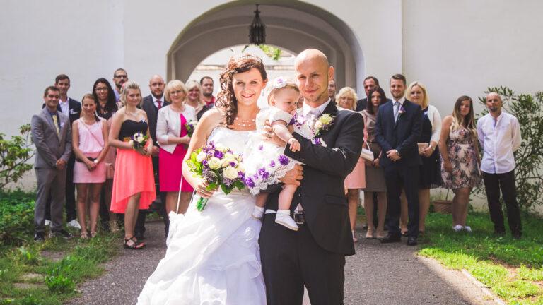 Svatba na zámku Radim avPoděbradech